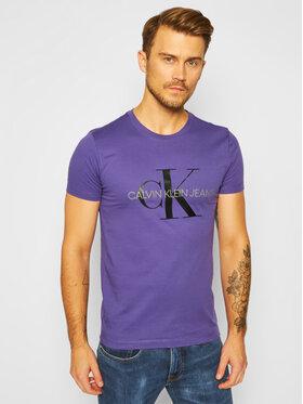 Calvin Klein Jeans Calvin Klein Jeans T-Shirt J30J314551 Fioletowy Slim Fit