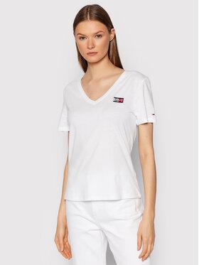 Tommy Jeans Tommy Jeans T-Shirt Tiny DW0DW11349 Biały Slim Fit