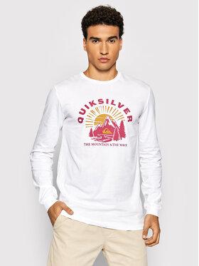Quiksilver Quiksilver Тениска с дълъг ръкав Mountain Side EQYZT06549 Бял Regular Fit