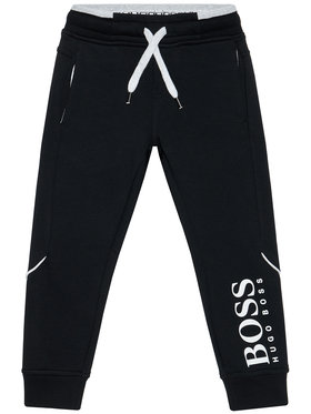 Boss Boss Pantaloni trening J24M35 S Negru Regular Fit