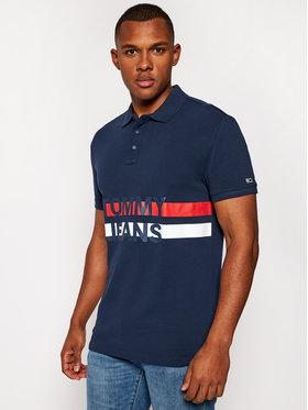 Tommy Jeans Tommy Jeans Тениска с яка и копчета Tjm Block Stripe DM0DM09508 Тъмносин Regular Fit