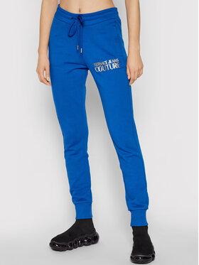 Versace Jeans Couture Versace Jeans Couture Teplákové nohavice Logo Foil 71HAAT04 Modrá Regular Fit