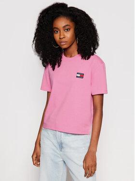 Tommy Jeans Tommy Jeans Marškinėliai Tjw Badge Tee DW0DW06813 Rožinė Regular Fit