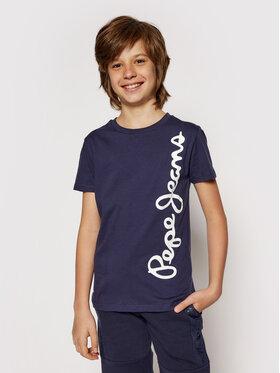 Pepe Jeans Pepe Jeans T-shirt Waldo Short PB501279 Blu scuro Regular Fit