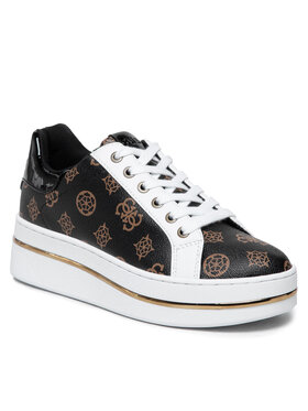 Guess Guess Sneakersy FL8NEL FAL12 Brązowy