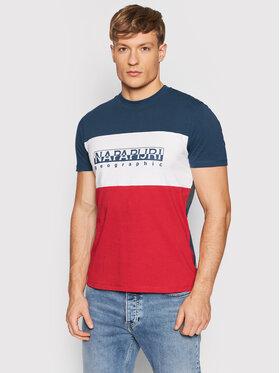 Napapijri Napapijri T-Shirt Sogy NP0A4FRI Rot Regular Fit