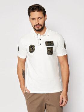 Aeronautica Militare Aeronautica Militare Тениска с яка и копчета 211PO1538P192 Бял Regular Fit