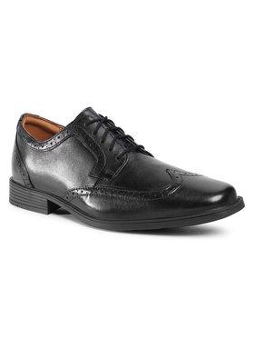 Clarks Clarks Κλειστά παπούτσια Tilden Wing 261462197 Μαύρο