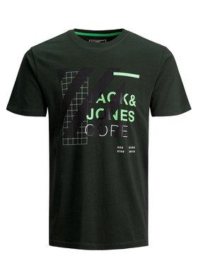 Jack&Jones Jack&Jones Marškinėliai Miguel 12179742 Žalia Slim Fit