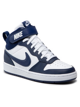 Nike Nike Boty Court Borough Mid 2 (GS) CD7782 107 Tmavomodrá