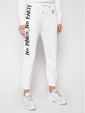 Pinko Pinko Παντελόνι φόρμας Enologia PE 21 PRR 1N1342 Y7ED Λευκό Regular Fit