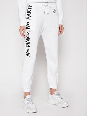 Pinko Pinko Spodnie dresowe Enologia PE 21 PRR 1N1342 Y7ED Biały Regular Fit