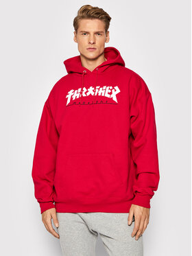 Thrasher Thrasher Džemperis Hood Godzilla 102020387 Raudona Regular Fit