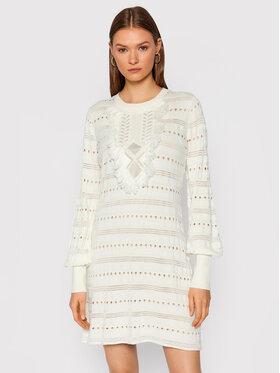 TWINSET TWINSET Džemper haljina 212TP3311 Bijela Slim Fit