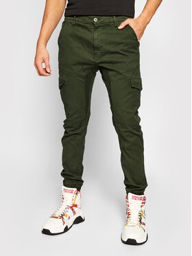 Guess Guess Joggery New Kombat M0YB17 WD2D1 Zielony Slim Fit