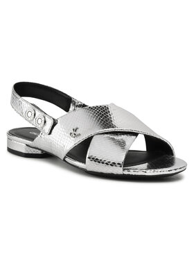 Calvin Klein Jeans Calvin Klein Jeans Sandále Flat YW0YW00134 Strieborná