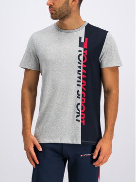 Tommy Sport Tommy Sport Tričko Graphic Logo S20S200192 Sivá Regular Fit