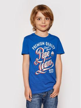 Pepe Jeans Pepe Jeans Marškinėliai Jordan PB503148 Mėlyna Regular Fit