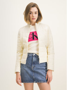 Calvin Klein Jeans Calvin Klein Jeans Pehelykabát Moto J20J212903 Bézs Slim Fit