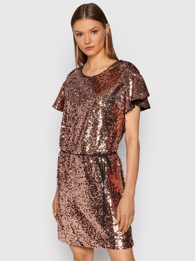TWINSET TWINSET Koktejlové šaty 212TT2232 Ružová Regular Fit