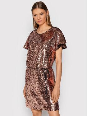 TWINSET TWINSET Koktel haljina 212TT2232 Ružičasta Regular Fit