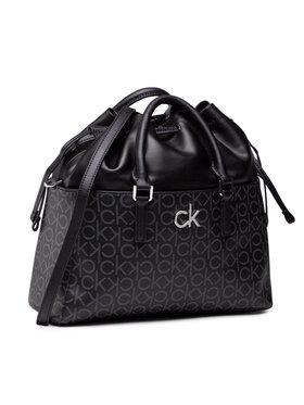 Calvin Klein Calvin Klein Дамска чанта Conv Habo Monogram Mix K60K608316 Черен