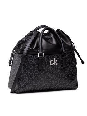 Calvin Klein Calvin Klein Sac à main Conv Habo Monogram Mix K60K608316 Noir