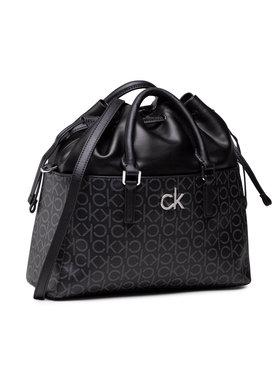 Calvin Klein Calvin Klein Τσάντα Conv Habo Monogram Mix K60K608316 Μαύρο