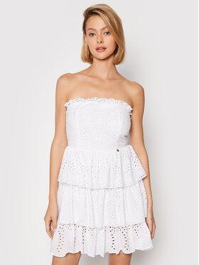 Rinascimento Rinascimento Sukienka letnia CFC0104520003 Biały Regular Fit