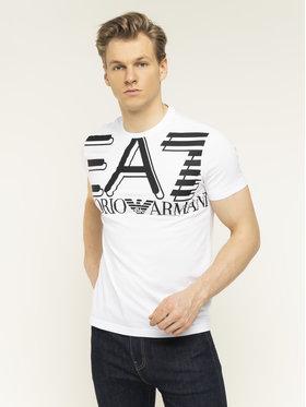EA7 Emporio Armani EA7 Emporio Armani T-Shirt 3HPT09 PJ02Z 1100 Weiß Regular Fit