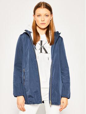 Geox Geox Átmeneti kabát W Nayomi Long W0220R T2608 F4491 Sötétkék Regular Fit