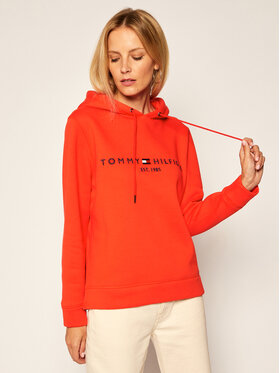 TOMMY HILFIGER TOMMY HILFIGER Džemperis Th Ess Hoodie WW0WW26410 Oranžinė Regular Fit