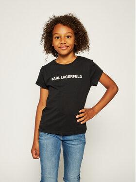 KARL LAGERFELD KARL LAGERFELD T-shirt Z15222 M Noir Regular Fit