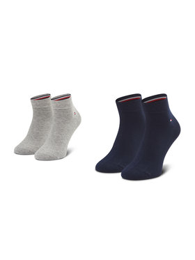 Tommy Hilfiger Tommy Hilfiger Vyriškų ilgų kojinių komplektas (2 poros) 342025001 Pilka