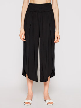 Seafolly Seafolly Culottes nohavice Shirred Waist Wrap 53341-PA Čierna Relaxed Fit