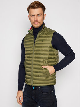TOMMY HILFIGER TOMMY HILFIGER Vestă Packable Down Vest MW0MW14607 Verde Regular Fit