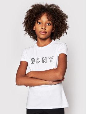 DKNY DKNY T-Shirt D35R23 S Biały Regular Fit