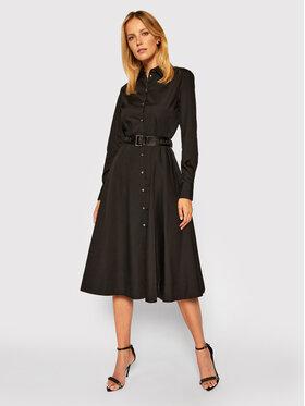 KARL LAGERFELD KARL LAGERFELD Ing ruha Poplin 206W1300 Fekete Regular Fit