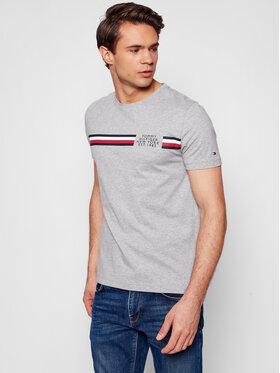 Tommy Hilfiger Tommy Hilfiger T-shirt Crop Split Tee MW0MW16592 Gris Regular Fit