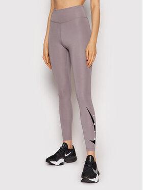 Nike Nike Leginsai Swoosh Run DA1145 Pilka Tight Fit
