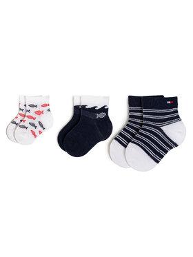 TOMMY HILFIGER TOMMY HILFIGER Σετ ψηλές κάλτσες παιδικές 3 τεμαχίων 320508001 Σκούρο μπλε
