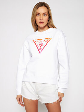 Guess Guess Sweatshirt Karida Fleece W1RQ00 K68I0 Blanc Regular Fit