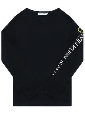 Calvin Klein Calvin Klein Bluse Repeat Logo Ls IB0IB00528 Schwarz Regular Fit