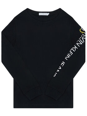 Calvin Klein Calvin Klein Блуза Repeat Logo Ls IB0IB00528 Черен Regular Fit