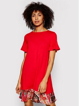 Desigual Desigual Kasdieninė suknelė Kali 21SWVK12 Raudona Regular Fit