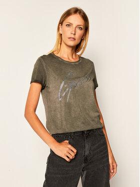 Guess Guess Marškinėliai Ivonne W0YI24 K46D1 Pilka Regular Fit