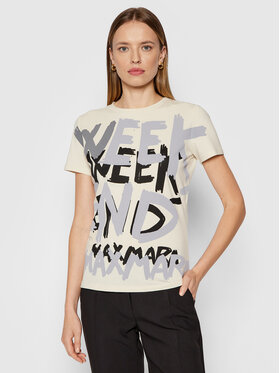 Weekend Max Mara Weekend Max Mara T-Shirt Rana 5976041 Beżowy Regular Fit