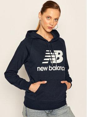 New Balance Mikina Esse Po Hoodie NBWT03550 Tmavomodrá Relaxed Fit