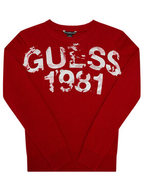 Guess Guess Pulover L0BR00 Z2HH0 Roșu Regular Fit