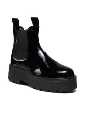 Tommy Jeans Tommy Jeans Botki Patent Chelsea Boot EN0EN01548 Czarny